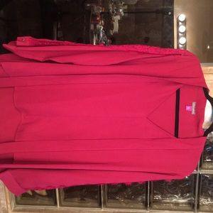 Vince Camuto, wine, long sleeve blouse